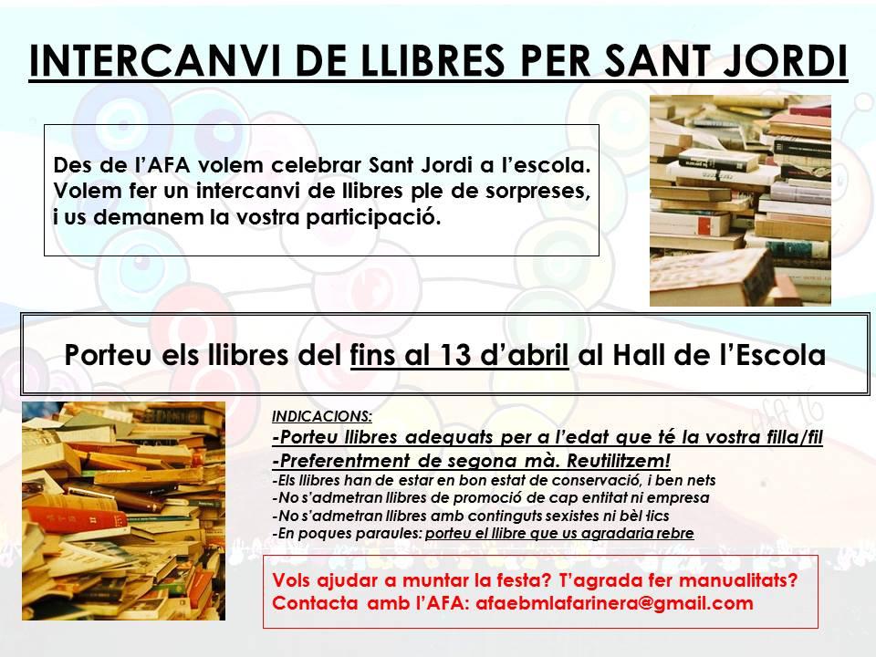 Porteu els vostres llibres al hall de l'Escola!