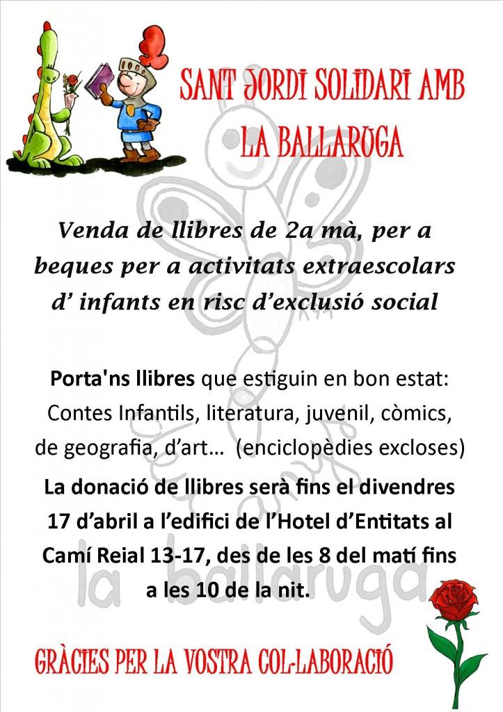 CARTELL DONACIÓ DE LLIBRES