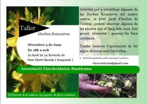 taller d'herbes 3 juny