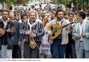 Músics de boda d'Anogia. Creta.