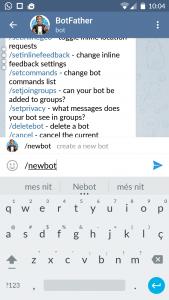 Crear un bot amb Telegram
